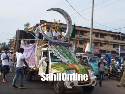 ಭಟ್ಕಳ: ಮಿಲಾದ್ ಕಮಿಟಿಯಿಂದ ಬೃಹತ್ ಮೀಲಾದ್ ಮೆರವಣೆಗೆ