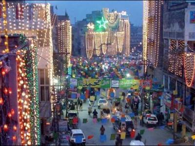 پورے ملک میں جوش وخروش کے ساتھ منایا جارہا ہے جشن عید میلاد النبیؐ