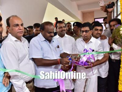 Mangaluru: Karnataka Chief Minister H D Kumaraswamy inaugurates offices of MLCs BM Farooq and S L Bhojegowda