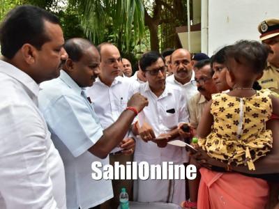 Karnataka Chief Minister H D Kumaraswamy holds Janata Darshan in Mangaluru