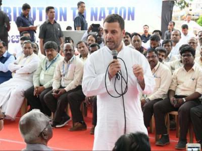 راہل گاندھی کی 'ایچ اے ایل' ملازمین سے ملاقات، کہا 'ملک پر آپ کا قرض ہے'