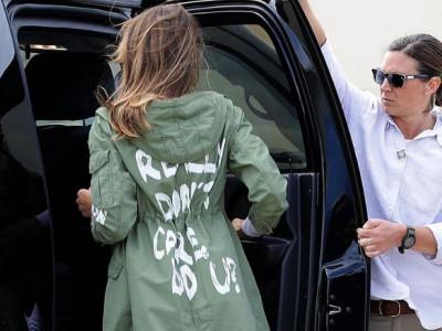 میلانیا ٹرمپ نے ' آئی ڈونٹ کیئر' والی جیکٹ پہننے کی وجہ بتادی