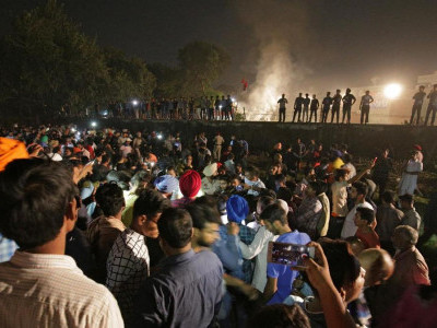 At least 50 dead as train runs over Dussehra revellers in Punjab