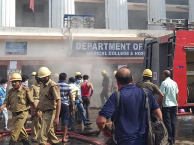 Fire mishap at Karwar dist hospital