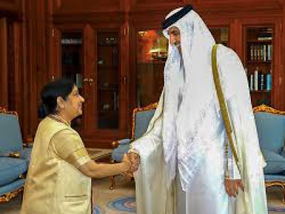 After successful talks with Qatar Sheikh Tamim Bin Hamad, MEA Sushma Swaraj to visit Kuwait next