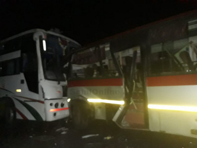 Two buses collide near Byndoor: 10 injured