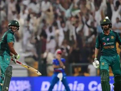 ایشیا کپ:پاکستان کی افغانستان کو 3 وکٹوں سے شکست