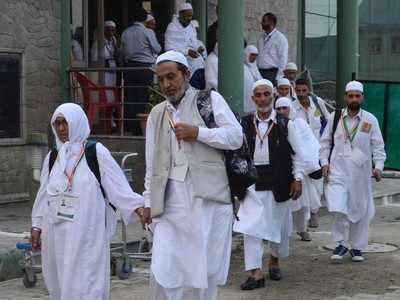 246حجاج پر مشتمل 18ویں حج پرواز کی بنگلوروآمد۔ مدینہ منور ہ میں بنگلورو کی حاجیہ کاانتقال