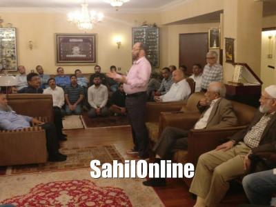 SM Syed Khalil Ur Rahman, ex president of AHM hosts Anjuman Engineering Alumni in Dubai
