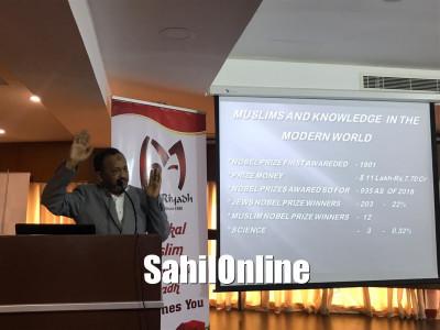 A talk by JB Nisar Ahmed on Present Status & Upliftment of Minorities organized by Bhatkal Muslim Association Riyadh
