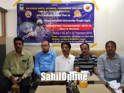 Anjuman to host KUD Inter-collegiate badminton tournament in Bhatkal