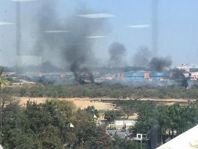 One pilot killed, 2 eject as two Suryakiran aircraft crash in Bengaluru