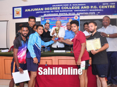 SGS Bhatkal, J.G. Hubballi College emerge Champions in KUD Badminton Tourney
