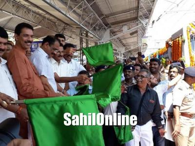 Mangaluru-Yeshwantpur special tri weekly train flagged off