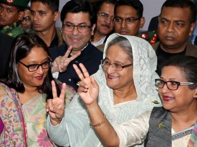 بنگلہ دیش انتخابات میں شیخ حسینہ کامیاب، اپوزیشن نے نتائج ماننے سے کیا انکار