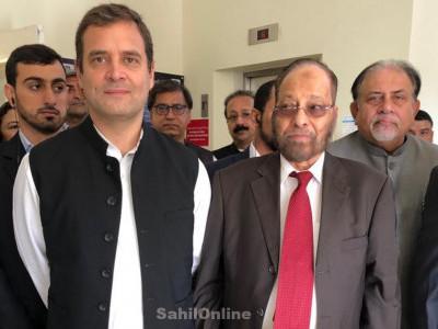 دبئی میں راہول گاندھی نے کہا؛ میں آپ کے من کی بات سننے آیا ہوں؛ ہزاروں کی بھیڑ میں راہول کا چل گیا جادو؛ راہول۔راہول کے نعرے