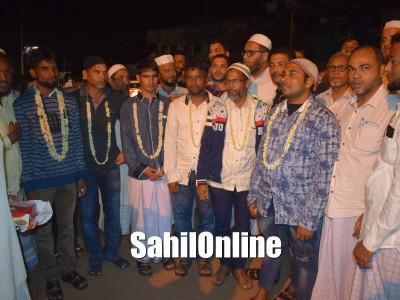 Uttara Kannada fishermen who were released from Iran, accorded grand welcome in Bhatkal