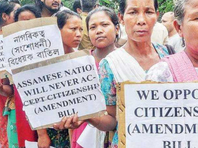 Protests against Citizenship Bill continue in Assam; CM Sarbananda Sonowal shown black flags