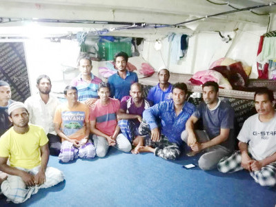 18 Uttara Kannada fishermen held captive in a boat in Iran set free after 6 months
