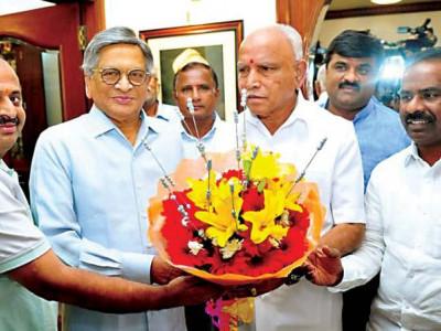 Don't field candidate, support Sumalatha in Mandya LS: SM Krishna to BS Yeddyurappa