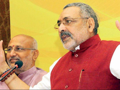 Denied ticket from Nawada, union minister Giriraj Singh goes into a sulk