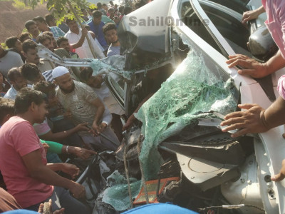 Car-Truck collision on Honnavar NH-66 kills one