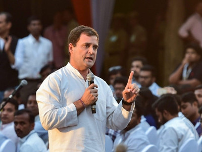 Several people raise 'pro-Modi' slogans, ask Rahul to leave