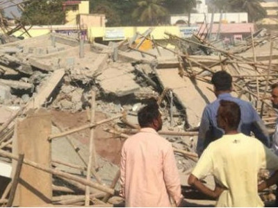 Two killed, many trapped in building collapse at Dharwad