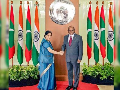 سشما سوراج نےمالدیپ کے وزیر داخلہ عمران عبداللہ سے ملاقات کی، دو طرفہ تعلقات پر ہوئی بحث
