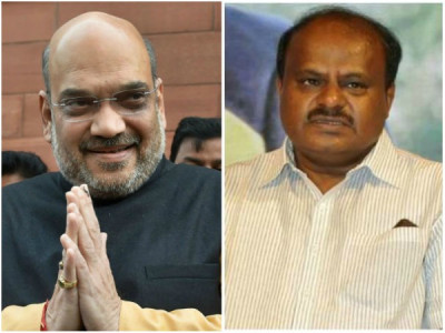 Karnataka CM asks Amit Shah to tell his supporters to behave in public