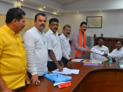 Nalin Kumar Kateel files nomination from Dakshina Kannada as BJP candidate