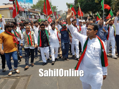 SDPI candidate files nomination papers