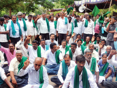 TMC farmers' wing protests against farm bills in Bengal