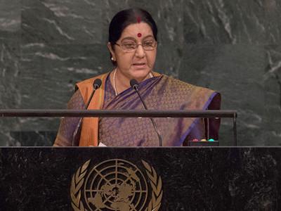 Muslims in India reject extremism, says Sushma Swaraj