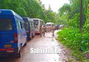 Opposing highway bypass, villagers stage massive protest in Kumta; submit memorandum