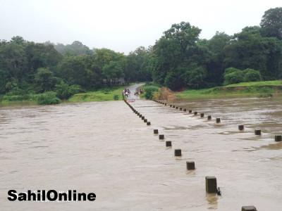 اترکنڑا ضلع میں مزید بارش کے امکانات کے پیش نظر ریڈ الرٹ جاری :بھٹکل میں ریکارڈ 140ملی میٹر بارش