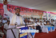 ಜೆ.ಡಿ.ಎಸ್. ಅಭ್ಯರ್ಥಿ ಮಧುಬಂಗಾರಪ್ಪ ಪರ ಮಾಜಿ ಸಿಯಂ ಭರಾಟೆಯ ಪ್ರಚಾರ