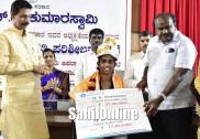 CM Kumaraswamy Felicitates Asian Games Gold Medalist Poovamma