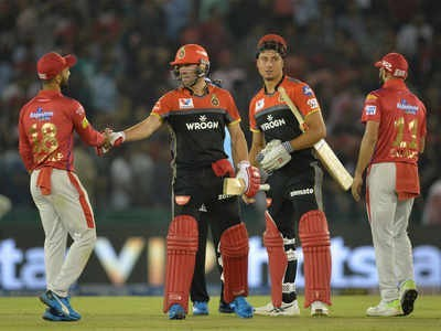 RCB beat KXIP by 8 wickets