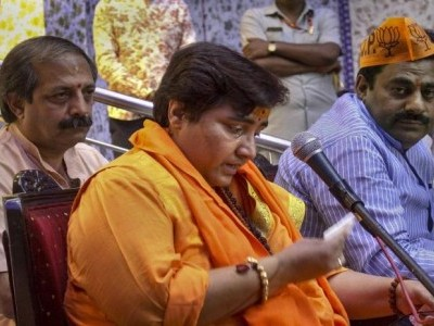 BJP's Pragya gets EC notice for Ram temple remark