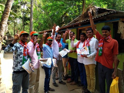 Loksabha election: Door to door campaign for BJP candidate Ananth Kumar Hegde in Bhatkal Uttara Kananda