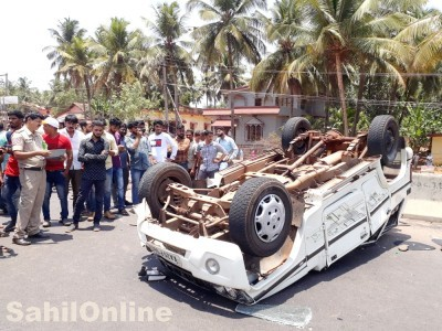 Car bike collision in Tarasi NH 66 near Kundapur, One dead five injured