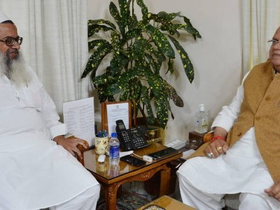 RSS leader, Mahmood Madani call on J-K governor