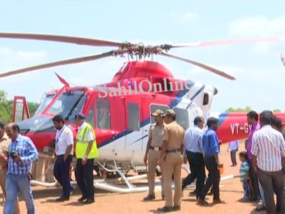 اُترکنڑا میں کرناٹکا کے وزیراعلیٰ کی کارکو 13 جگہوں پر روک کر تلاشی لینے کے بعد اب سابق وزیراعظم کے ہیلی کاپٹرکی بھی لی گئی تلاشی