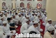 بھٹکل  میں جوش و خروش کے ساتھ منائی جارہی ہے عیدالاضحیٰ؛ بارش کے پیش نظر تمام جامع مساجد میں ادا کی گئیں نماز دوگانہ