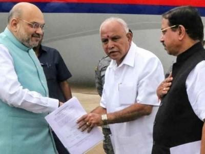 امت شاہ سے ملے وزیراعلی یدی یورپا، کرناٹک کابینہ میں توسیع کل