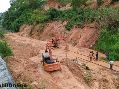 Landslide blocks track, train services affected