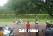 بھٹکل میں بائک سواریوں کی جانچ کے دوران حادثہ کی وڈیوکلپ وائرل