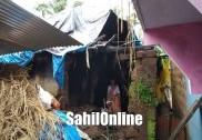 Heavy rain lashes Bhatkal again; house damaged severely in Shirali