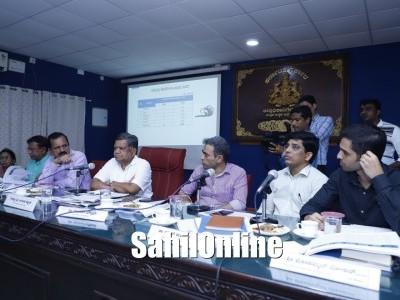 Minister Jagadish Shettar conducts press meet in Karwar